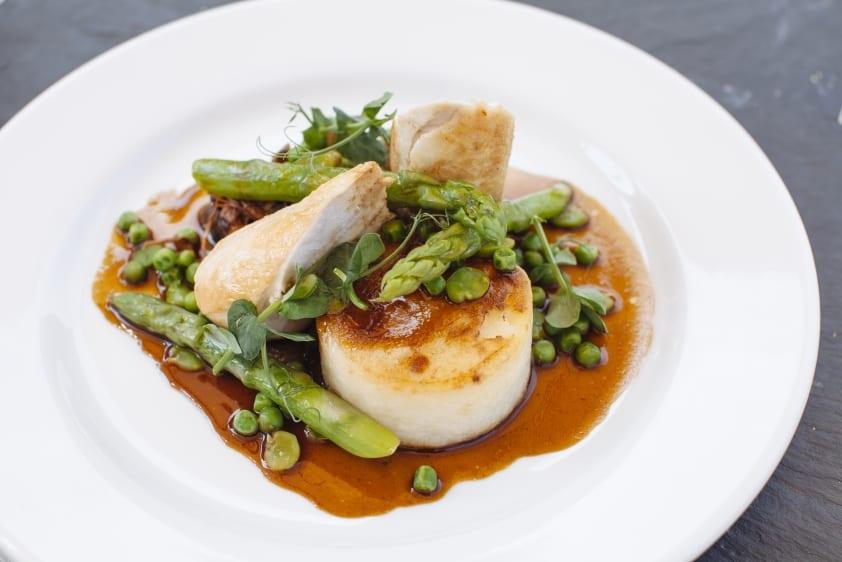 Savory dish options at Caley Hall Hotel